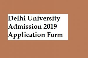 DU Admission 2019 Online Application Form