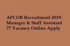 APCOB Recruitment 2019