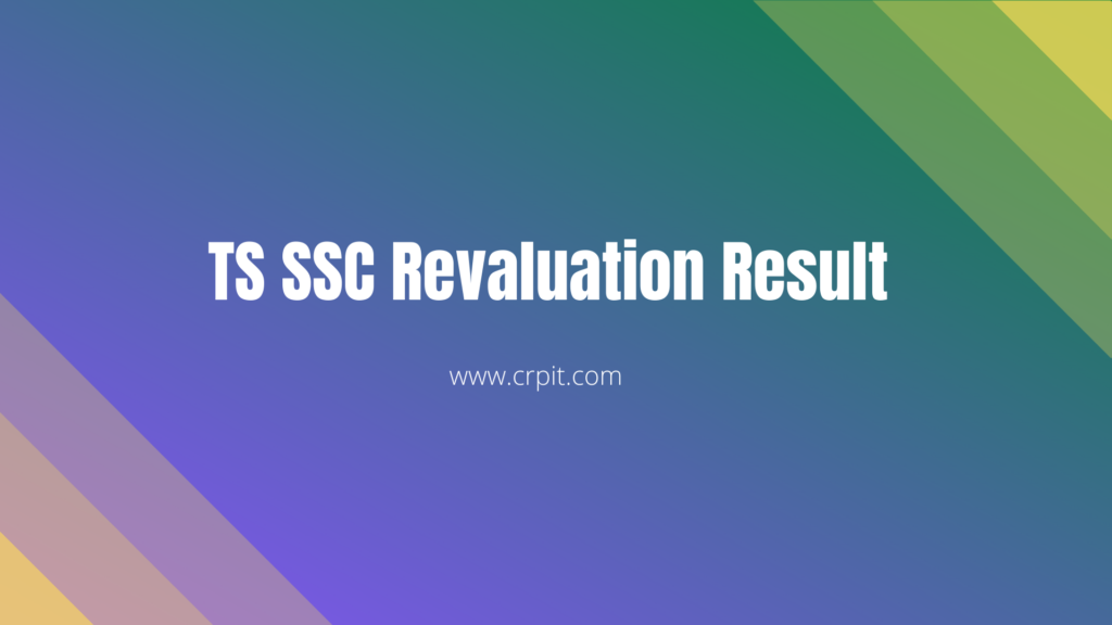 TS SSC Revaluation Result